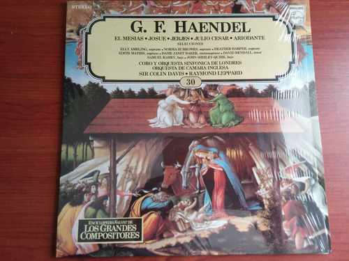 lp vinilo los grandes compositores #30 - g. f. haendel