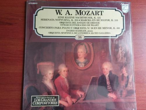 lp vinilo los grandes compositores #36 - w. a. mozart