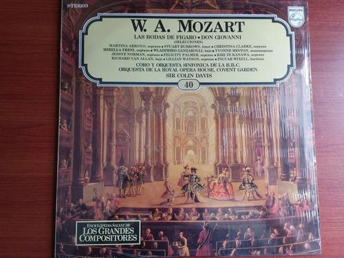 lp vinilo los grandes compositores #40 - w. a. mozart