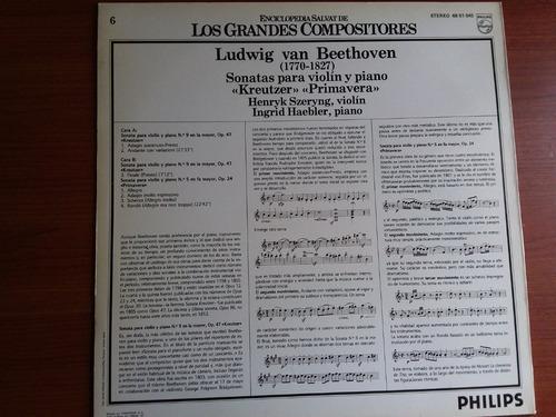 lp vinilo los grandes compositores #6 - ludwig van beethoven