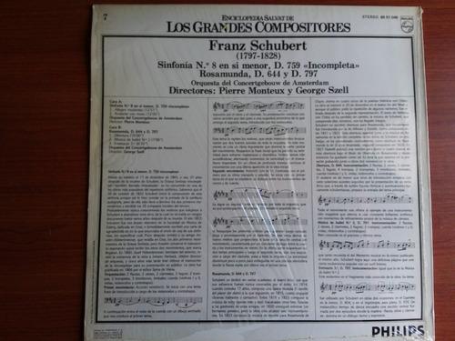 lp vinilo los grandes compositores #7 - franz schubert