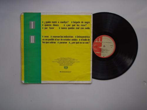 lp vinilo los prisioneros los prisione edicion colombia 1988