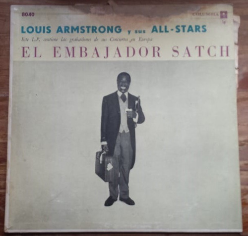 lp vinilo - louis armstrong - el embajador satch