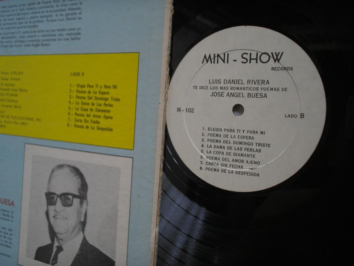 Lp Vinilo Luis Daniel Rivera Poemas Jose Angel Buesa Usa1974