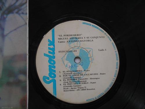 lp vinilo miguel ahumada antonio mayorga el pordiosero 1980