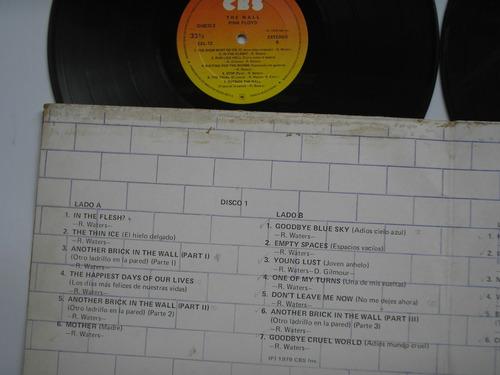 lp vinilo pink floyd the wall 2 lps edición colombia  1979