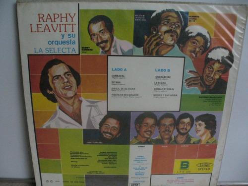 lp vinilo raphy leavitt y su orquesta la selecta con sabor