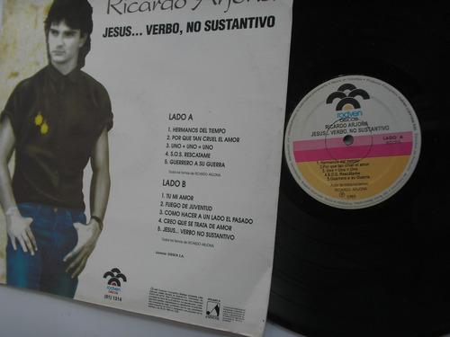 lp vinilo ricardo arjona verbo no sustantivo promoc col 1993