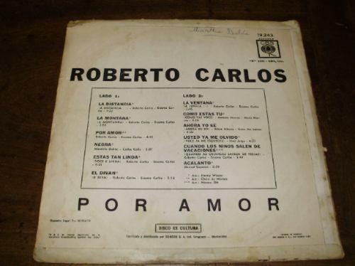 lp vinilo roberto carlos por amor 12'' cbs sondor uruguay