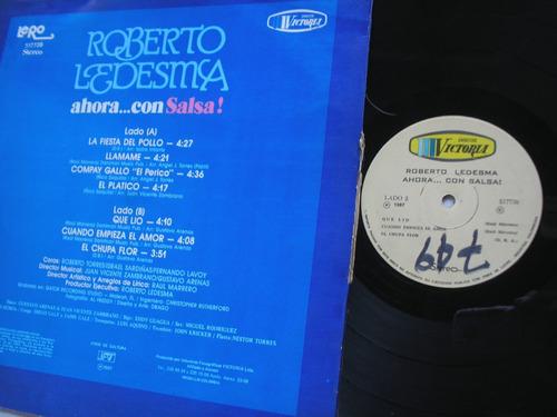 lp vinilo roberto ledesma ahora con salsa edic colomba 1987