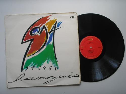 lp vinilo soda stereo languis edicion original colombia 1989