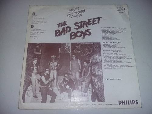 lp vinilo the bad street boys looking for trouble salsa