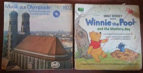 lp vinilos cinderella robin hood winnie the pooh olimpiadas