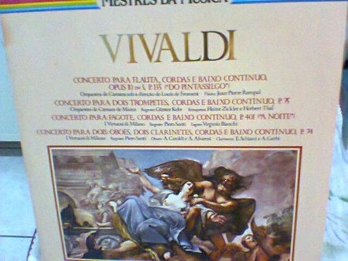 lp vivaldi / diversas-concertos flauta,cordas  frete grátis