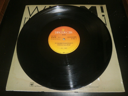 lp wham! i'm your man - remix version, disco vinil, ano 1985