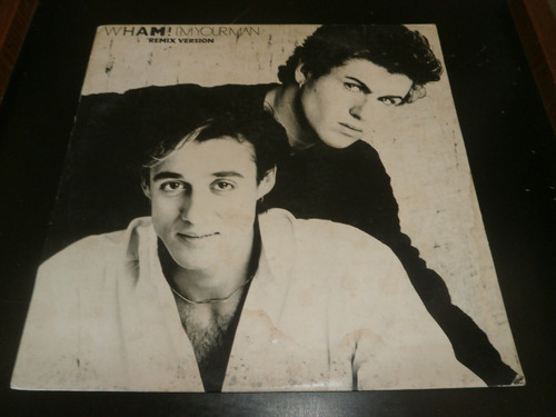 lp wham! i'm your man - remix version, disco vinil, ano 1985