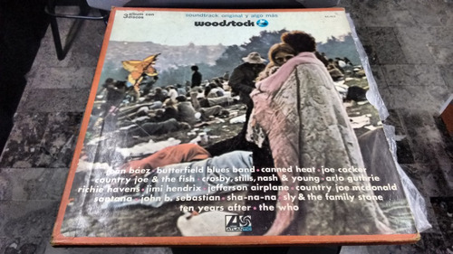 lp woodstock en formato acetato,long play