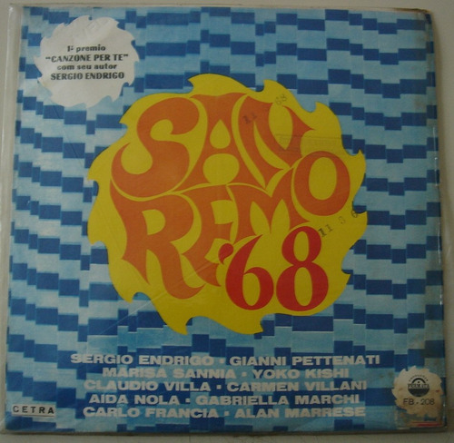 lp - xviii festival della canzone italiana-sanremo 68