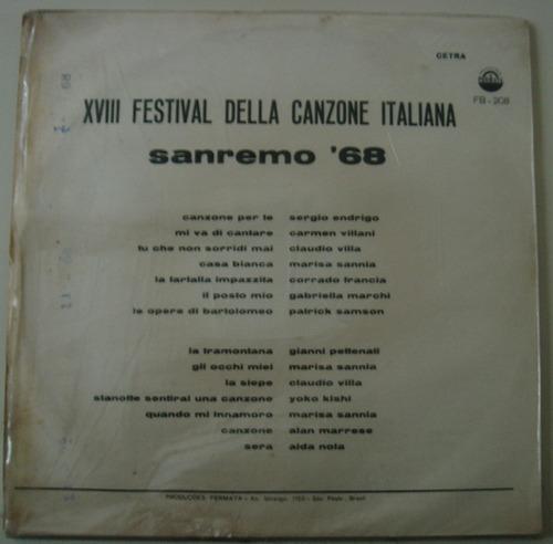 lp - xxiii festival della canzone italiana-sanremo 68