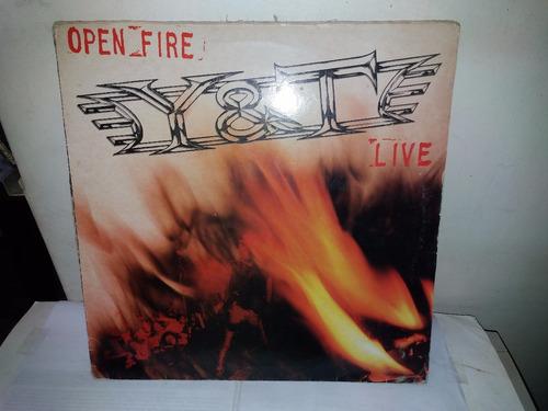 lp y & t  open fire 1985 importado ja