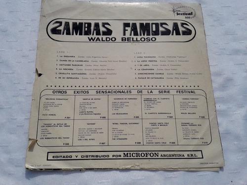 lp zambas famosas waldo belloso excelente estado!!!