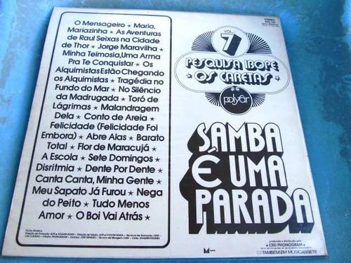 lp zerado os caretas samba é uma parada vol  7