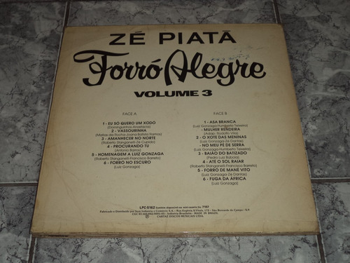 lp/bregas&for - zé piatá - vol. 3