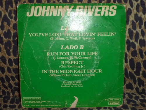 lp/compacto - johnny rivers  - 1976