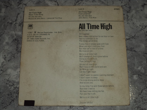 lp/compacto - rita coolidge - all time high