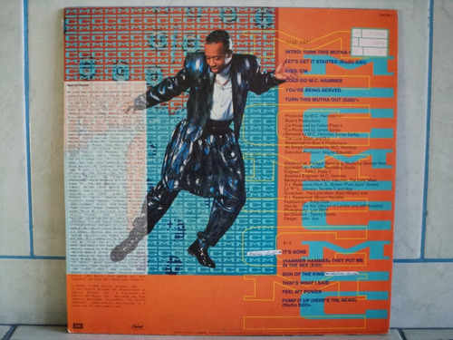 lp/disco black - mc hammer - let's get is started 1991
