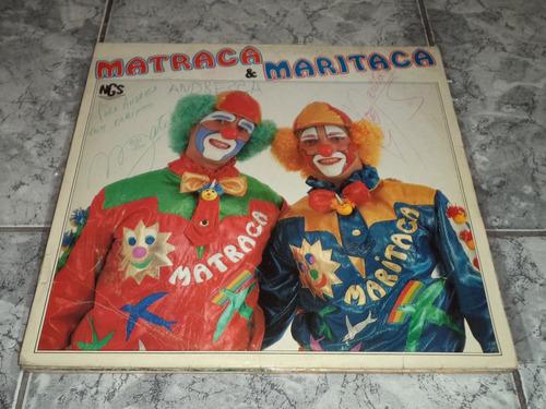 lp/disco infantil - matraca & maritaca