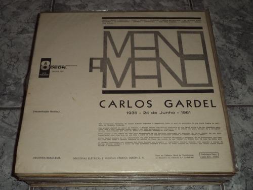 lp/disco mpb/var - carlos gardel - mano a mano 1964