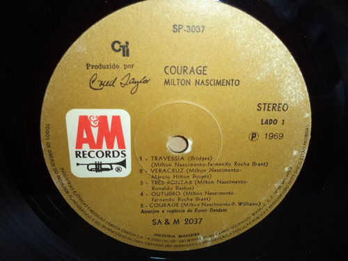 lp/disco mpb/var - milton nascimento - courage  1969