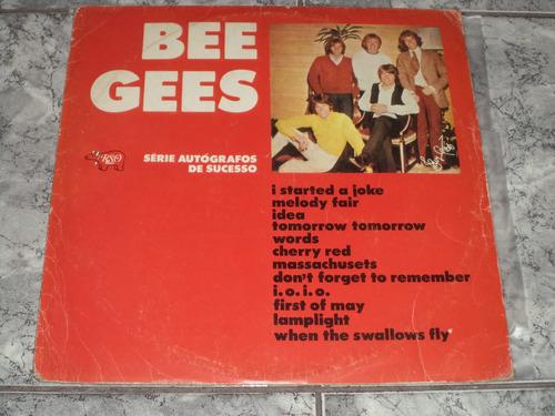 lp/disco popvar - bee gees - serie autógrafos