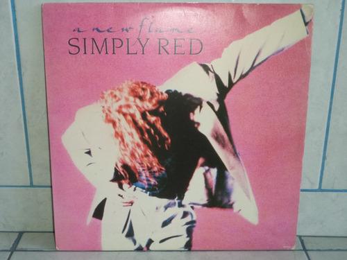lp/disco popvar - simply red - a new flame 1989 c/encarte