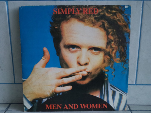 lp/disco popvar - simply red - men and women -  c/ encarte