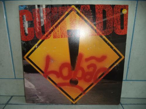 lp/disco rockpop - lobão - cuidado! = 1988