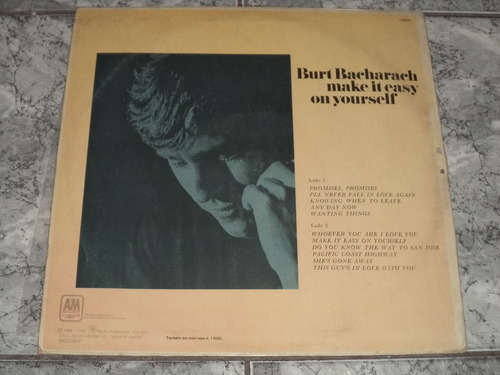 lp/disco rom/var - burt bacharach - make it easy on yourself