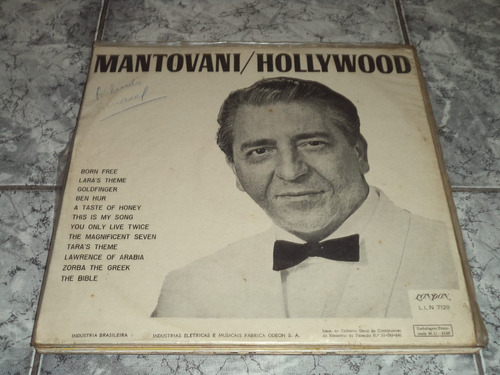 lp/disco rom/var - mantovani - hollywood