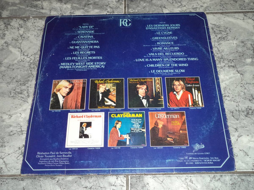 lp/disco rom/var - richard clayderman - sonhos