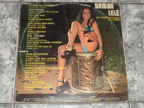 lp/disco samba - os comun. do samba - samba lelê