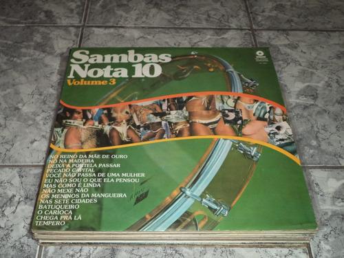 lp/disco samba - sambas nota 10 - vol. 3