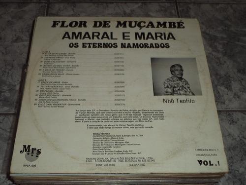 lp/disco sertanejas - amaral e maria  - flor de muçambe