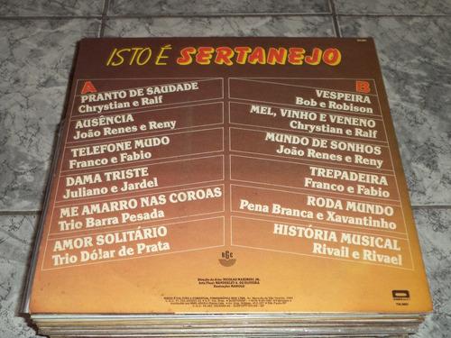 lp/disco sertanejas - isto é sertanejo - 1987