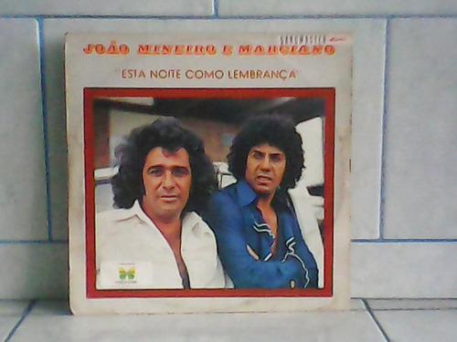 lp/disco sertanejas - joão mineiro e marciano esta noite