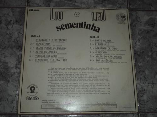 lp/disco sertanejas - liu e leo - sementinha