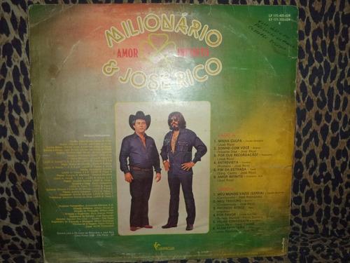 lp/disco sertanejas - milionário e josé rico amor infinito