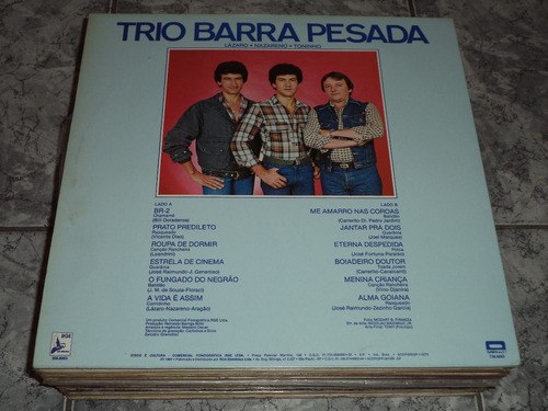 lp/disco sertanejas - trio barra pesada  (  lindooo )