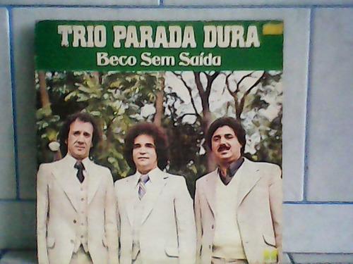 lp/disco sertanejas - trio parada dura - beco sem saída