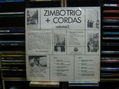 lp(duplo)  zimbo trio cordas e metais - convite para ouvir